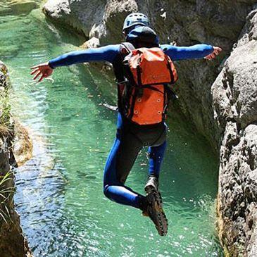 Descente du Canyon de Fanghettto près de Menton - Niveau Facile