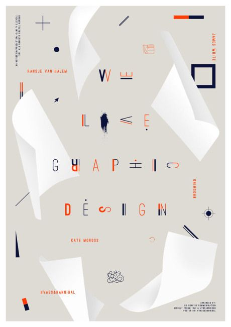 Hvass&Hannibal We Love Graphic Design 2013 poster via Nelli Arnth Blog