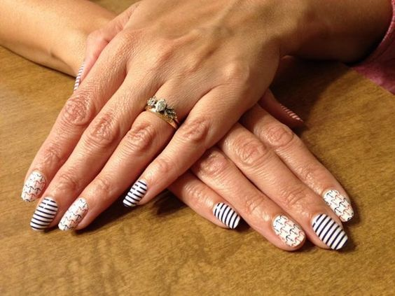 Color Street nail polish strips! High Seas design! Get them here-->