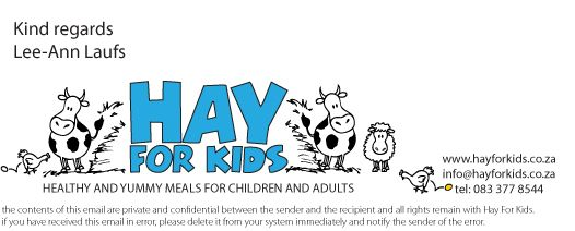 Hay For Kids e-mail signature. www.hayforkids.co.za