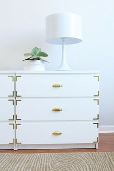 Elegant Kommode in Wei und Gold DIY Ikea Hacks Ideen