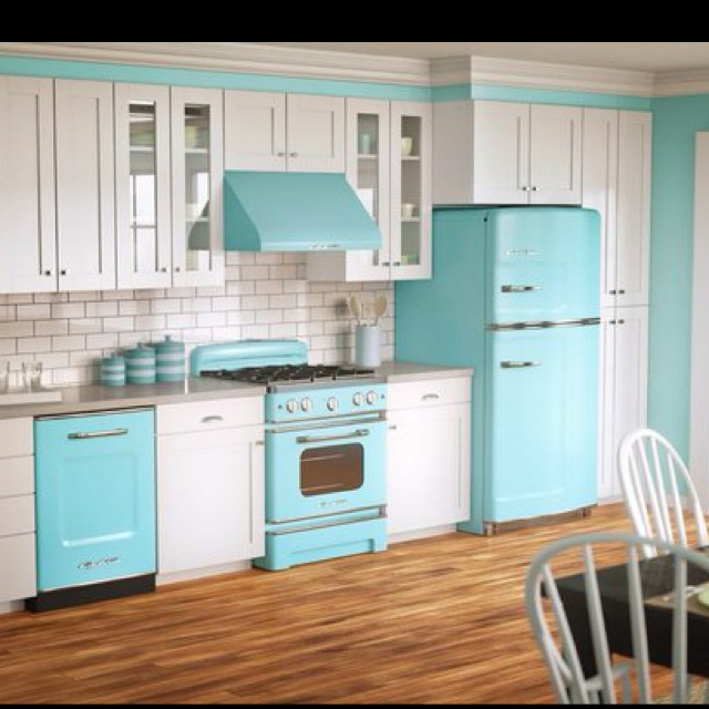 Kitchen Ideas Blue 146 best vintage kitchen ideas images on pinterest | home, retro