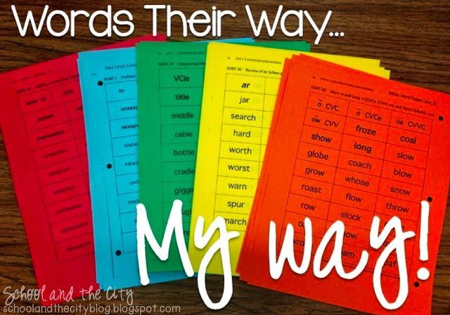 Words Their Way: MY Way by School and the City -- How to organize, manage, and implement Words Their Way