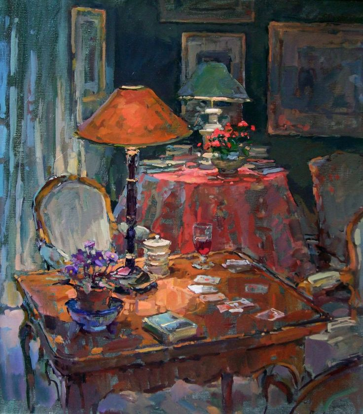 Susan Ryder, RP, NEAC, Artist and Painter - Interiors and Exteriors. I love the unusual colors.  Painting.