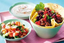 Beef burrito cups with salsa – Recipes – Slimming World - 6 1/2 Syns on Extra Easy