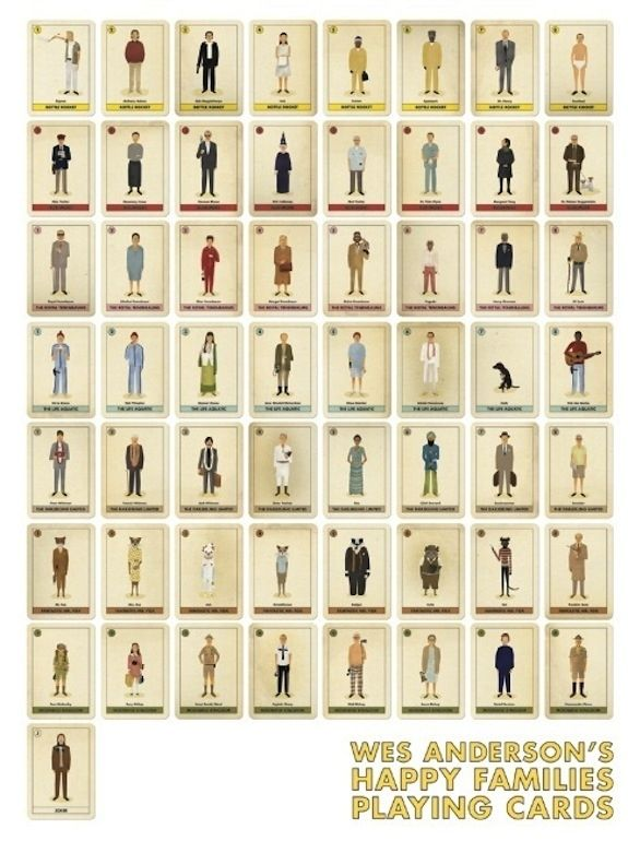 Wes Anderson's Happy Families Playing Cards