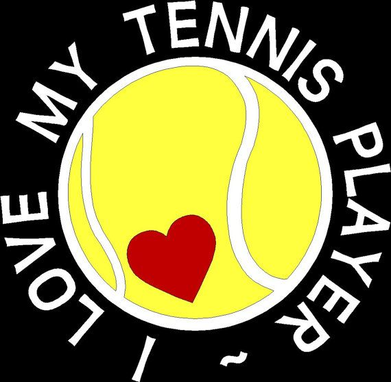 Our Original Design  I love my tennis player by WalnutStreetHouse2
