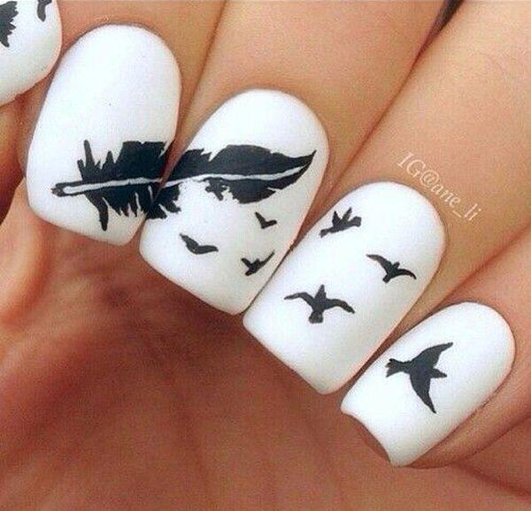 70 Cool Nail Designs - Best 20+ White Tip Nail Designs Ideas On Pinterest White Glitter