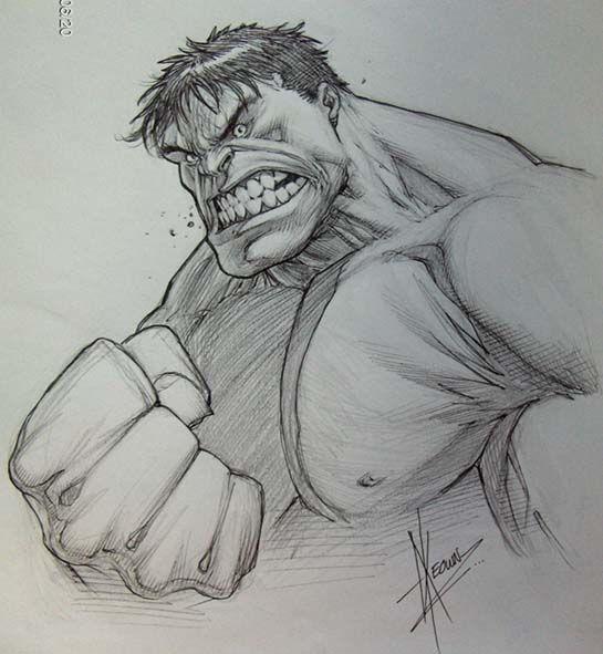 Dale Keown - The Hulk Comic Art