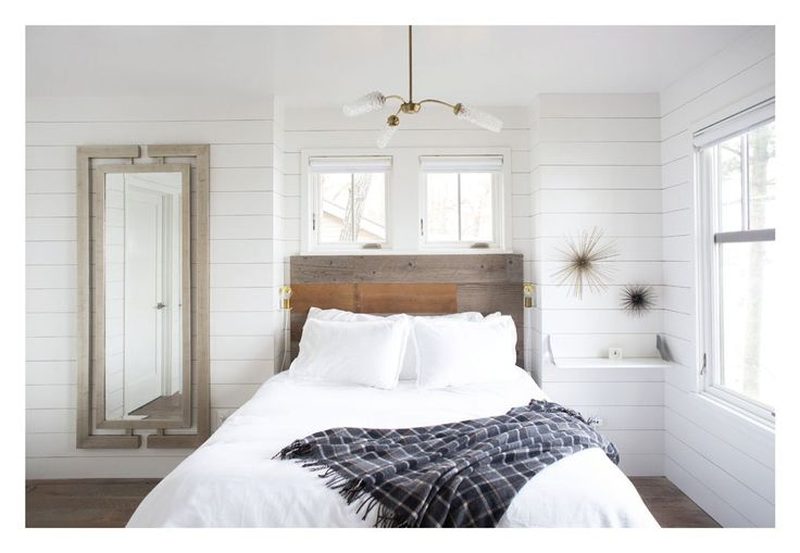 The master bedroom off the living area can be closed off via barnwood pocket doors.