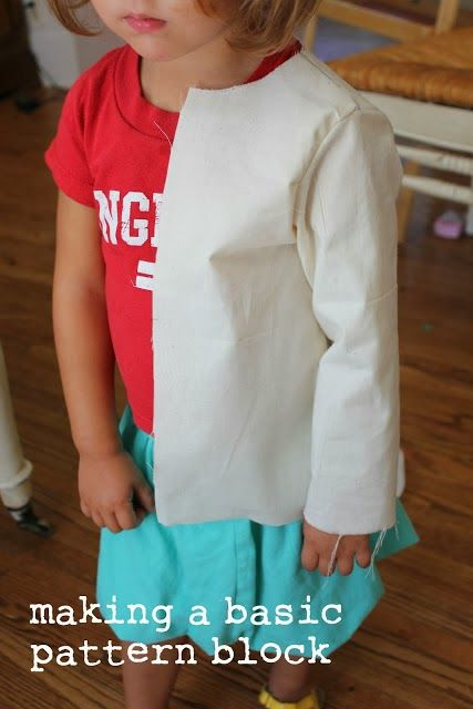 Draping A Child's Basic Block From A Dress Form