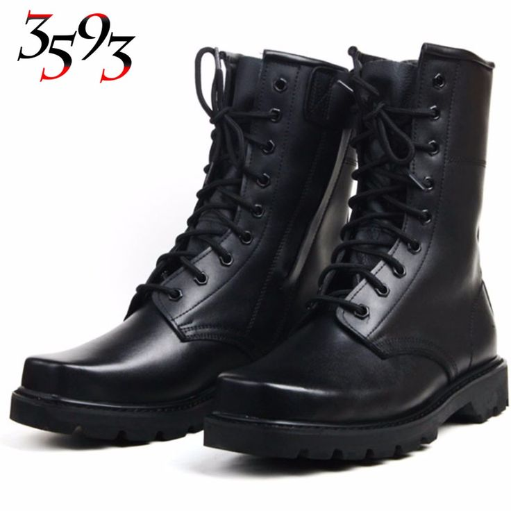 3593 New Arrive Genuine Cow Leather Zipper Boots Big Yards Winter Wool  Military Shoes Waterproof Anti