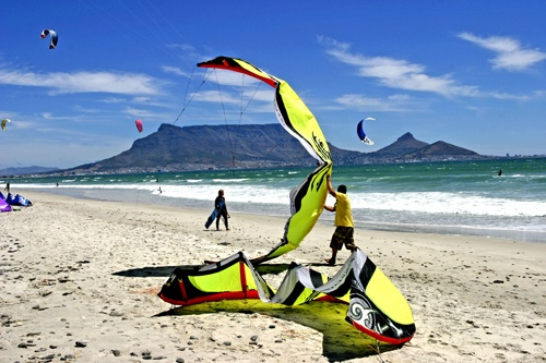 Blouberg Beach - World renowned for it's Big Wind and Big-Time Kite Surfing!  It's Like Totally Wicked Dude!