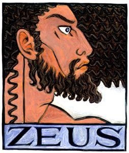 Zeus, Sky Father and King of the Greek Gods--Greek gods and goddesses,pagan gods and goddesses jupiter deus pater sky god storm god ancient ...