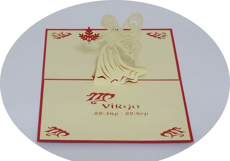 Virgo 23 August – 23 September - 3D Pop Up Cards - Greeting Cards - Ovid Gifts