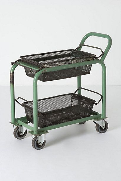Antique Factory Trolley #anthropologie    for laundry...