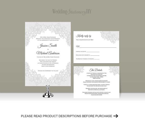 52 best DIY Wedding Invitation templates images on Pinterest - invitation templates microsoft