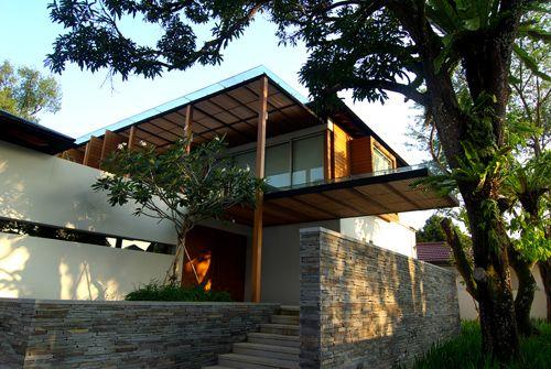 Tropical Architecture House Entrance