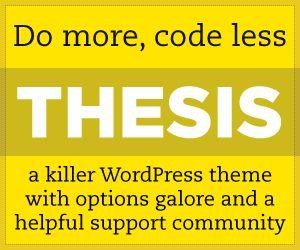 thesis theme banner ad Do you want to add custom navigation menus in your wordpress theme by default, many wordpress themes come with pre-defined menu locations and layouts in this.