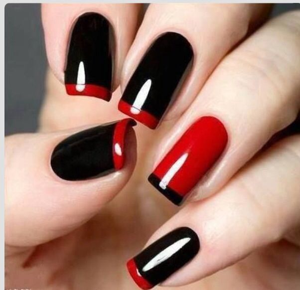 red tip french manicure #slimmingbodyshapers To create the perfect overall style with wonderful supporting plus size lingerie come see slimmingbodyshapers.com