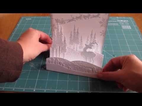 Make a winter wonderland shaped card - YouTube
