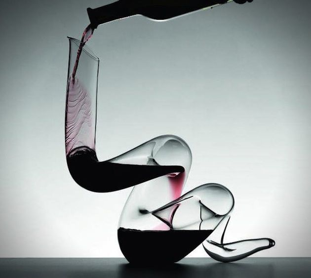 Boa decanter by Riedel - definitely a conversation piece!  #wine #decanter #Riedel