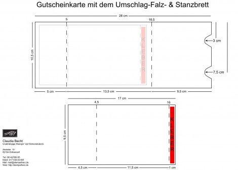 Silhouette Studio Designer Edition: Schnitt- & Falzplan für Gutscheinkarte.studio