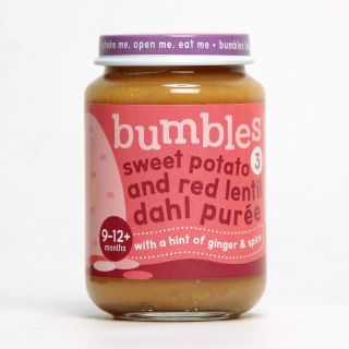 Bumbles™ Baby Food Range Sweet Potato and Red Lentil Dahl on bumbles.co.za