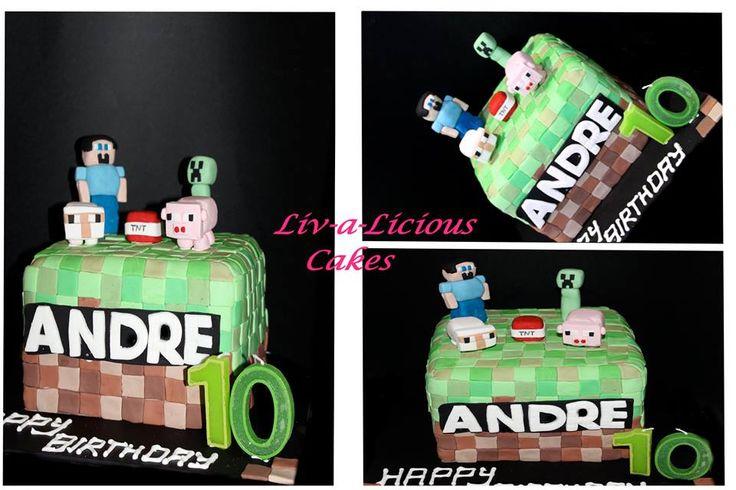 Mindcraft themed cake