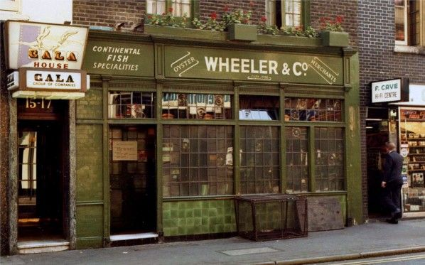 Wheelers seafood restaurant old compton street soho for Fish market restaurant nyc