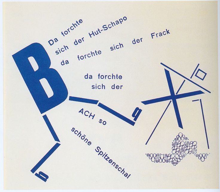 Theo van Doesburg & Käte Steinitz, artwork for Merz 14/15 Die Scheuche, 1925. Text by Kurt Schwitters. Germany.