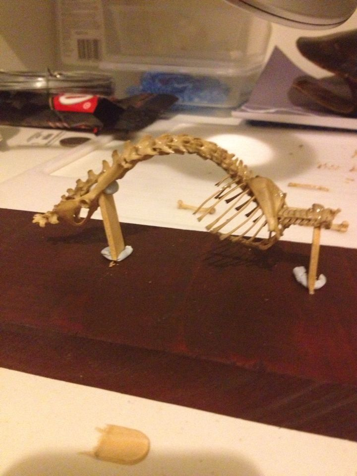 Rat skeleton jigsaw mount