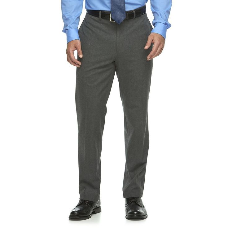 Men's Van Heusen Flex Slim-Fit Suit Pants, Size: 32X30, Light Grey
