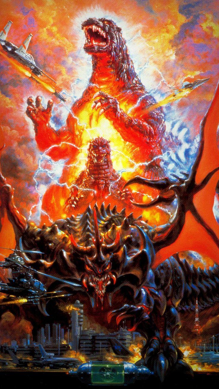 Godzilla vs. Destoroyah (1995) Phone Wallpaper   Moviemania