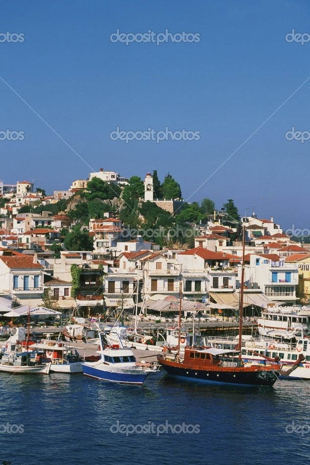 Greece, Skiathos, harbor and boats. #Greece #Skiathos #Greek