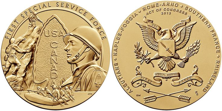 First Special Service Force Receives Congressional Gold Medal - Coin Community Forum
