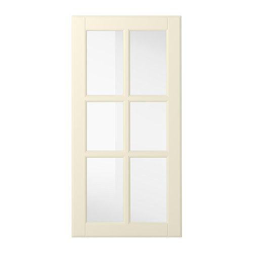 IKEA - BODBYN, Puerta de vidrio, hueso, 40x80 cm, , La puerta BODBYN tiene un marco y un panel biselado que le dan un característico aspecto tradicional. Gracias al color hueso, tu cocina parecerá más luminosa y acogedora.Las puertas lacadas son totalmente lisas y uniformes, aguantan bien la humedad, repelen las manchas y son fáciles de limpiar.25 años de garantía. Consulta las condiciones generales en el folleto de garantía.Puedes montar la puerta para que se abra desde la derecha o la…