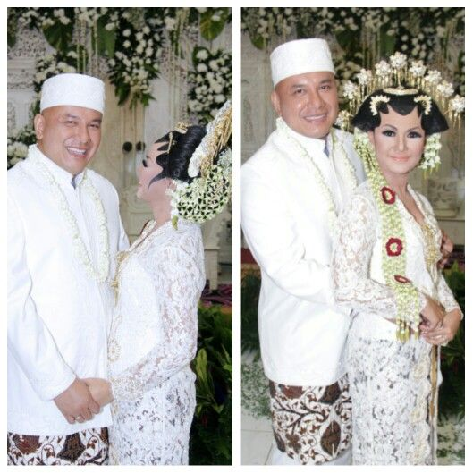 Javanese wedding.  Lovely white kebaya