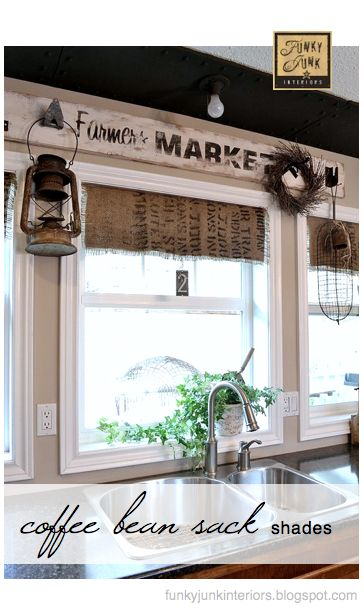 Burlap window topper