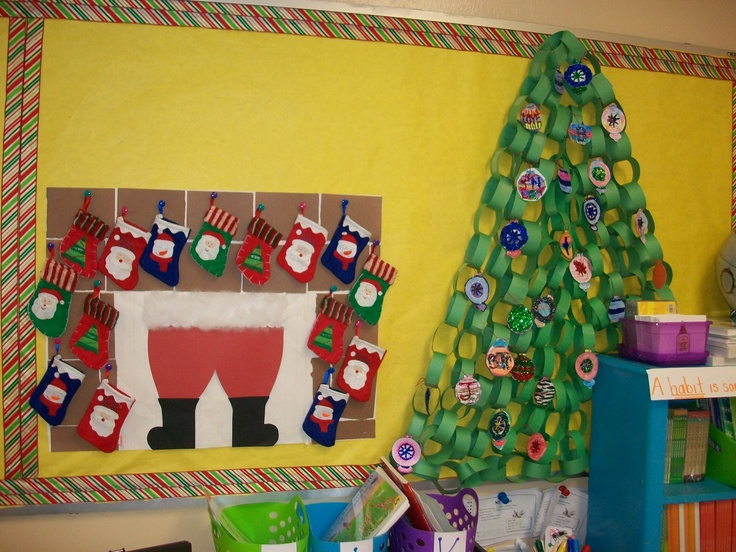 Fun Christmas classroom bulletin board