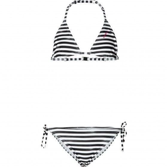 Deze mooie gestreepte #bikini van #O'Neill heeft een handige sluiting in de nek en op de rug. #dws