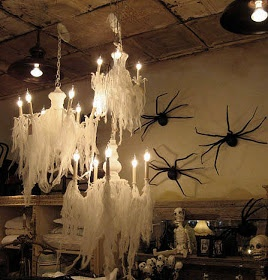14 best halloween chandeliers images on pinterest halloween prop cheesecloth halloween chandelier for my daughter mozeypictures Choice Image