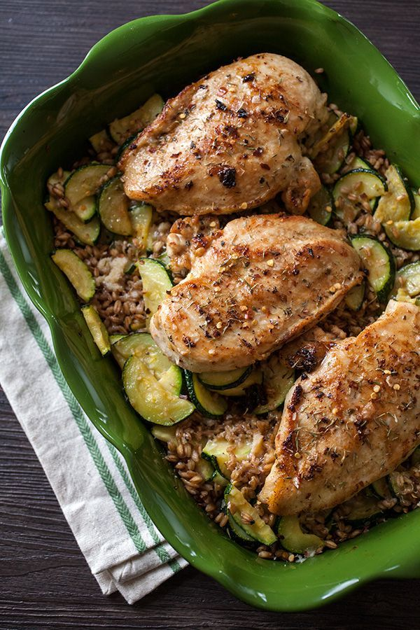 Recipes with chicken zucchini and mushrooms