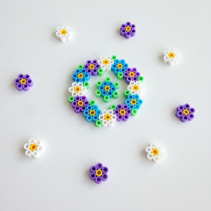 Flower wreath hama beads by bymettes                              …