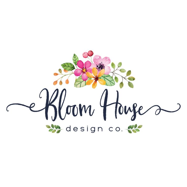 Pretty Floral Premade Logo Design & Blog Header - Customized with Your Business Name!