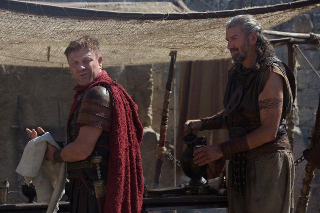 Sean Bean and Clive Russell in The Young Messiah (2016)