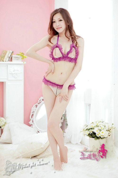 Sexy appeal bikini purple lace Lingerie