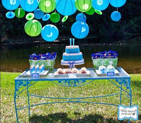 Gotta love a party that includes cake, rock candy and Doritos!