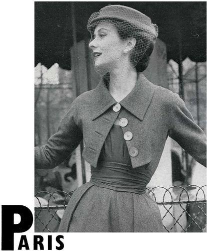Diseño de Jaques Fath para Vogue Abril, 1952