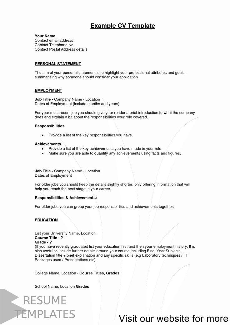 simple resume template download Free in 2020 Resume